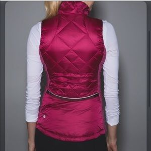 Lululemon Pink Down for a Run Vest - Size 8